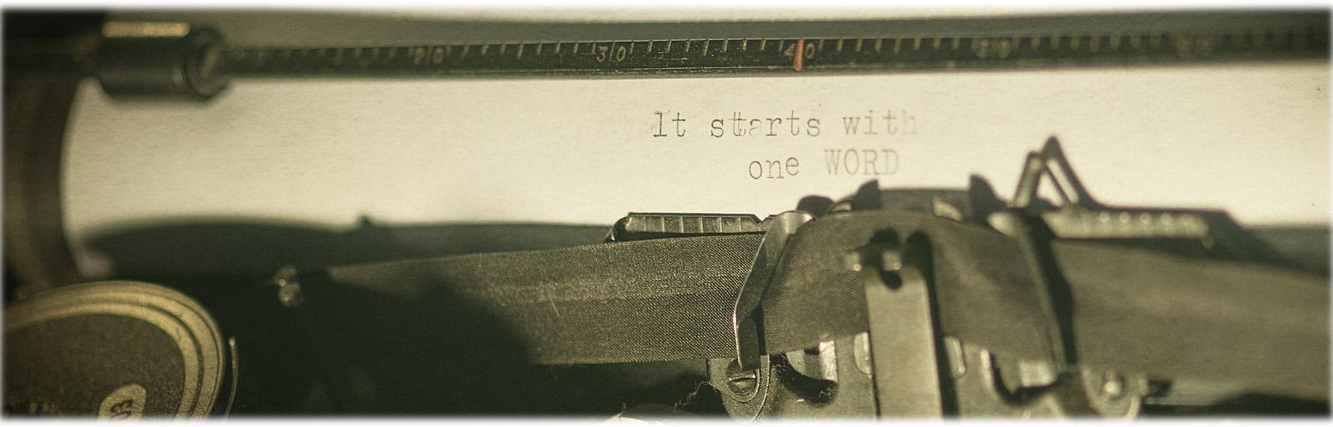 Alle guten Ideen beginnen mit nur einem Wort